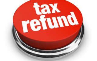 Press button for tax refund